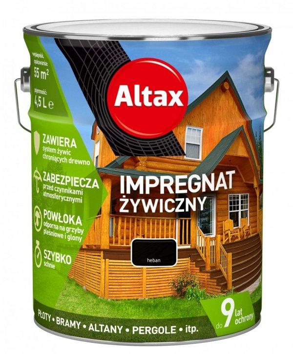 Altax Impregnat 4,5L HEBAN Żywiczny Drewna Szybkoschnący