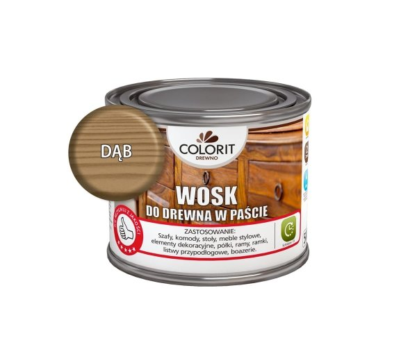 Colorit Wosk Drewna Pasta 0,5L DĄB 500ml do