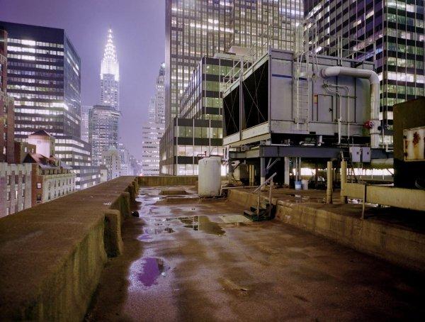 Fototapeta 368x254 8-732 Miasto Noc Nowy Jork Blok Wieżowiec USA Architektura Budynki Wieżowce Dach