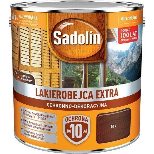 Sadolin Extra lakierobejca 2,5L TEK TIK TEAK 3 drewna