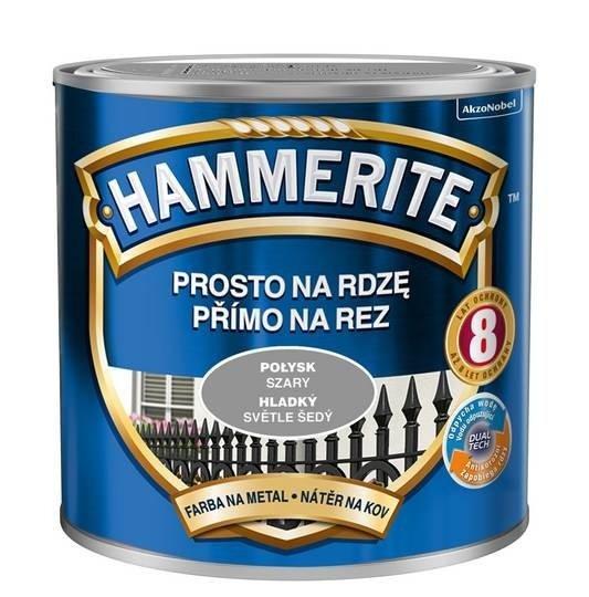 Hammerite Na Rdzę 0,25L SZARY POŁYSK hamerite farba