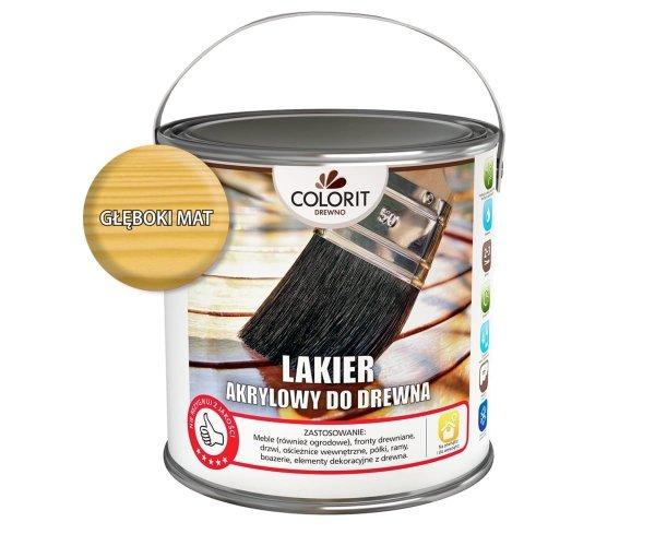 Colorit Lakier Akrylowy Drewna 5L MAT BEZBARWNY z filtrami UV do wewnątrz i na zewnątrz nieżółknący