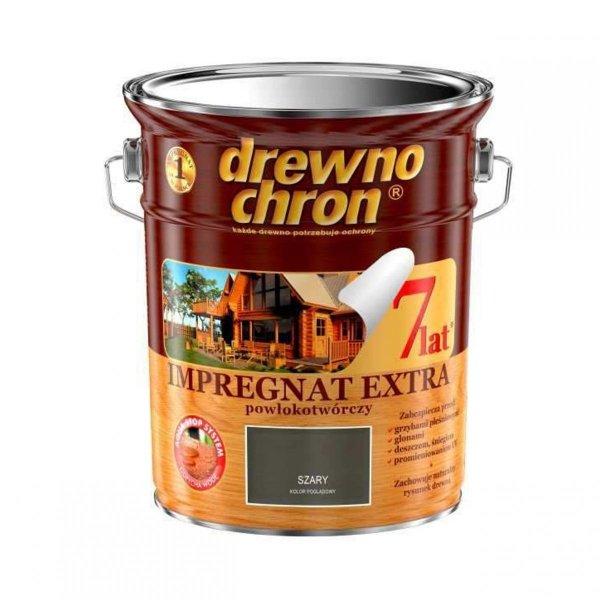 Drewnochron SZARY 4,5L Impregnat Extra drewna do