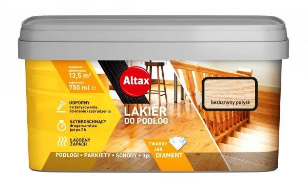 Altax Lakier Podłóg Parkietu 0,75L POŁYSK BEZBARWNY do