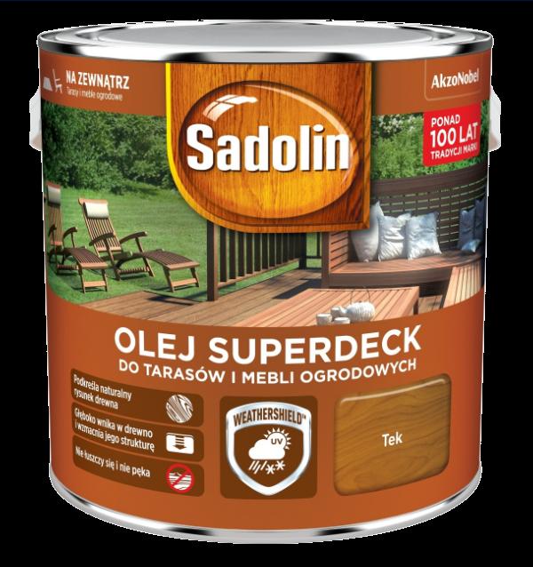 Sadolin Superdeck olej 5L TEK TIK 33 tarasów drewna do