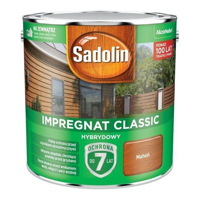 Sadolin Classic impregnat 2,5L MAHOŃ 7 drewna clasic