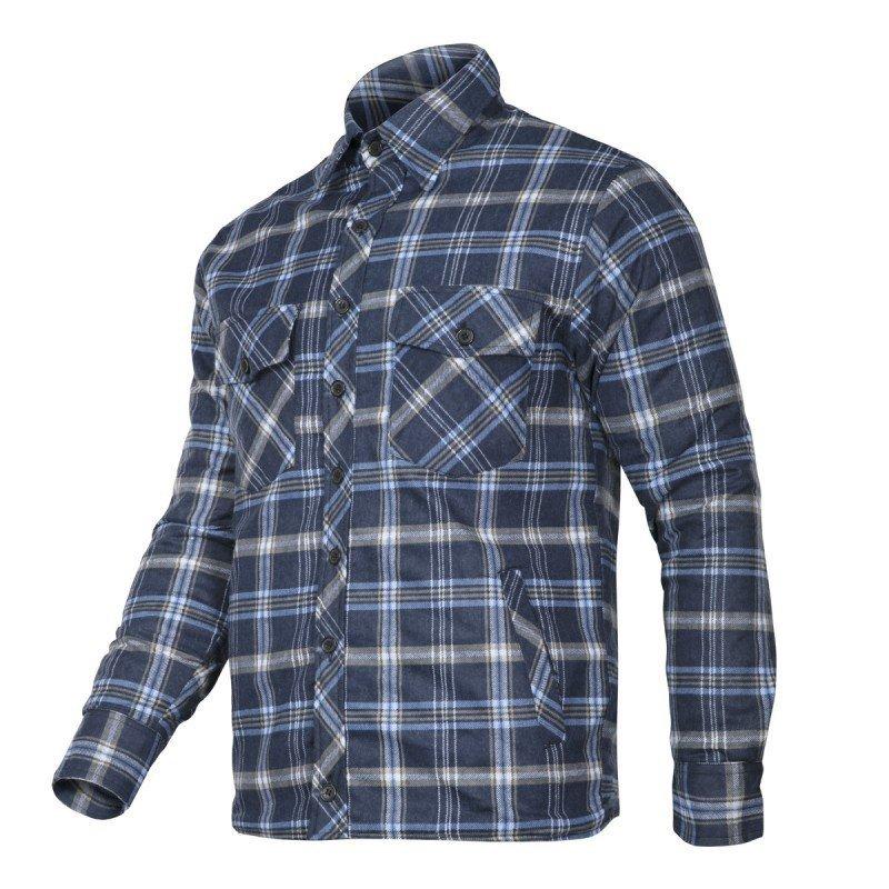 LAHTI PRO Koszula zimowa ocieplana flanelowa S robocza granatowo-niebieska