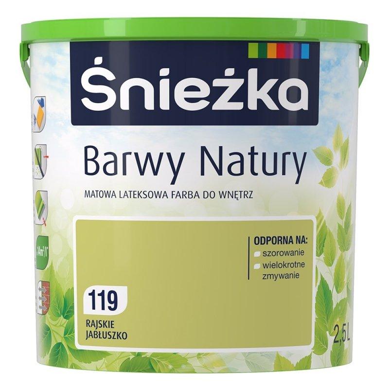 Śnieżka Barwy Natury 2,5L Rajskie Jabłuszko 119 Farba