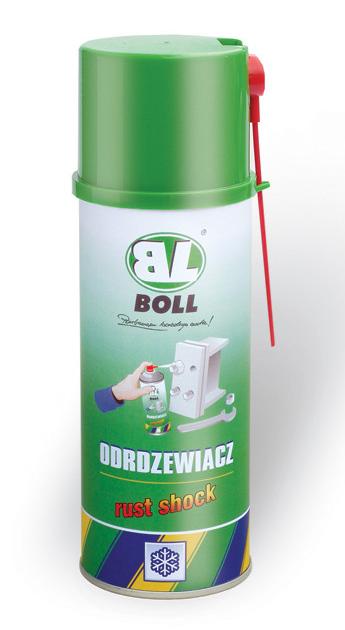 BOLL Odrdzewiacz Rust Shock Spray 400ml Śrub Nakrętek Rdzę Środek Preparat