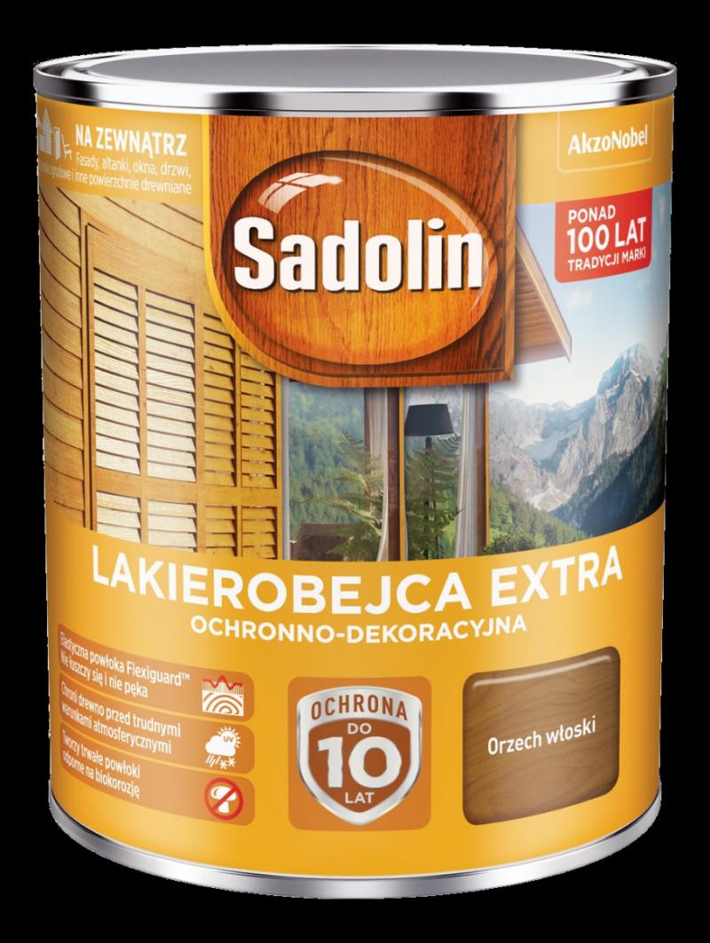 Sadolin Extra lakierobejca 0,75L ORZECH WŁOSKI 4 drewna