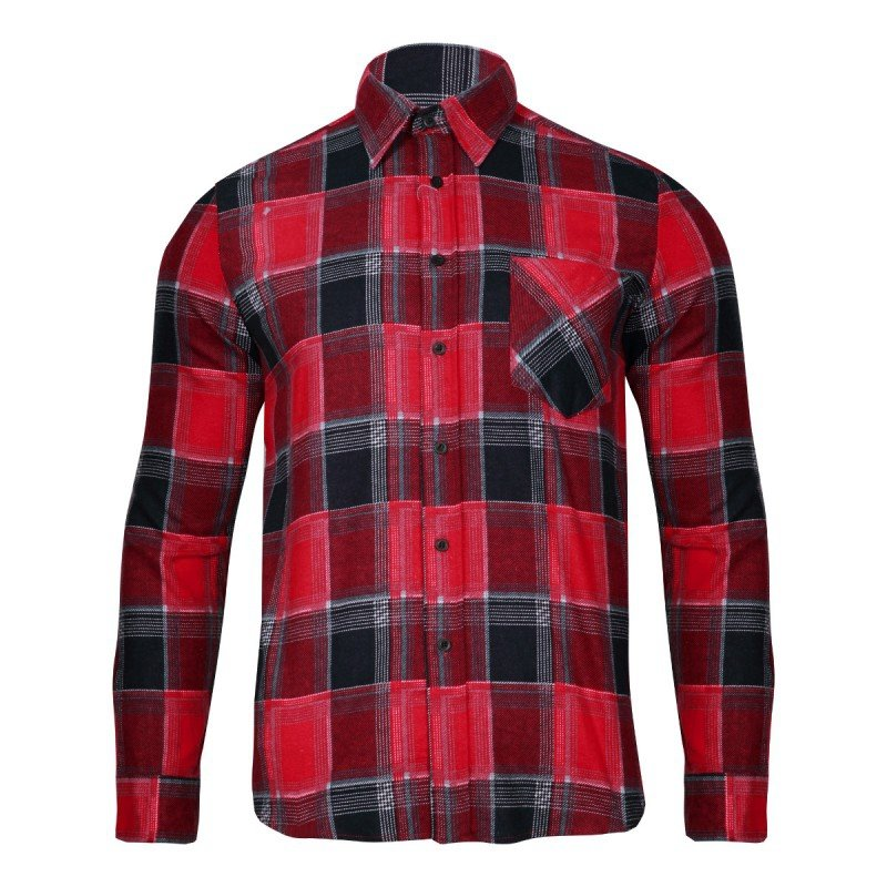 LAHTI PRO Koszula robocza flanelowa M krata 120g czerwona