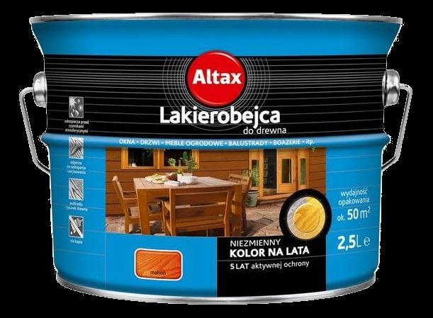Altax Lakierobejca Drewna 2,5L MAHOŃ niebieska