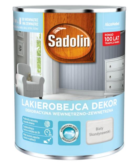 Sadolin Dekor Lakierobejca 1l Biały Skandynawski Drewna Biała