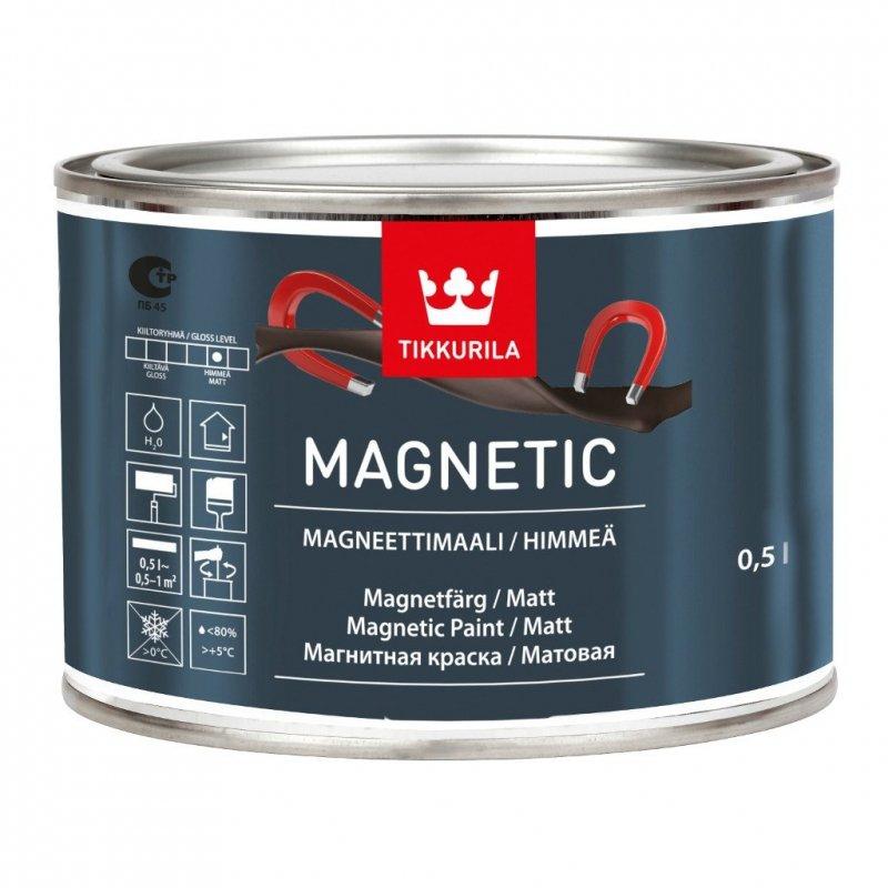 Tikkurila Magnetic 0,5l Farba magnetyczna do ścian Tikurila Tikurilla