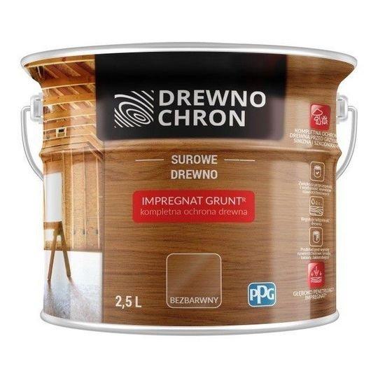 Drewnochron Bezbarwny Grunt R 2,5L impregnat drewna do