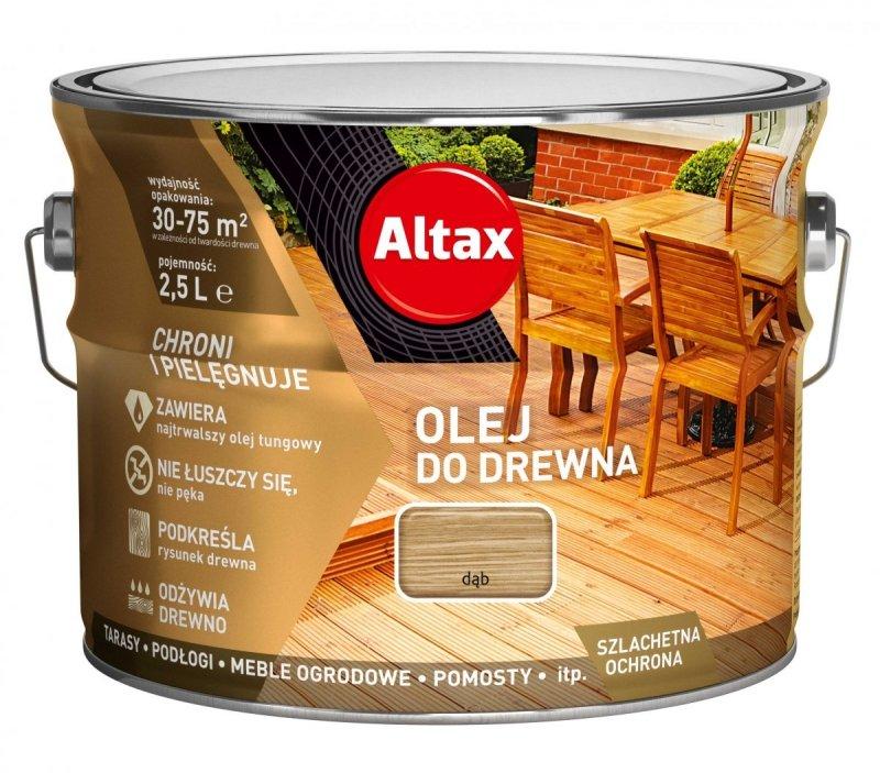 Altax olej do drewna 2,5L DĄB tarasów