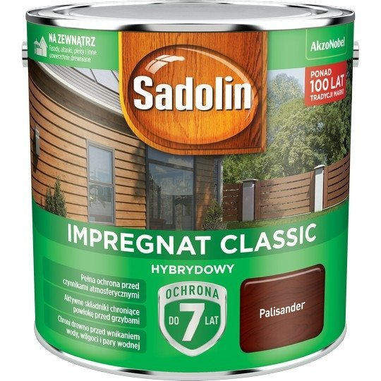 Sadolin Classic impregnat 2,5L PALISANDER 9 drewna clasic