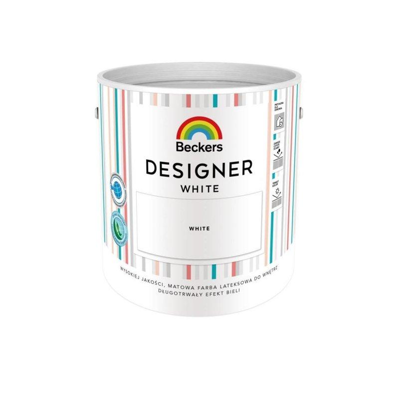 Beckers Designer White 2,5L Biała farba lateksowa