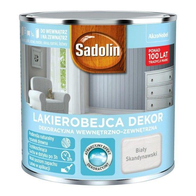 Sadolin Dekor Lakierobejca 0,25L BIAŁY SKANDYNAWSKI drewna BIAŁA