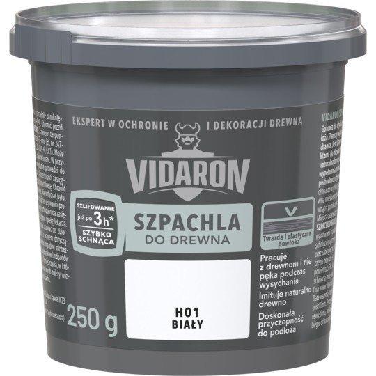 Vidaron Szpachla Drewna 0,25kg BIAŁY H01 szpachlówka