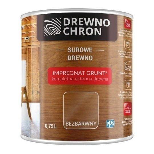 Drewnochron Bezbarwny Grunt R 0,75L impregnat drewna do