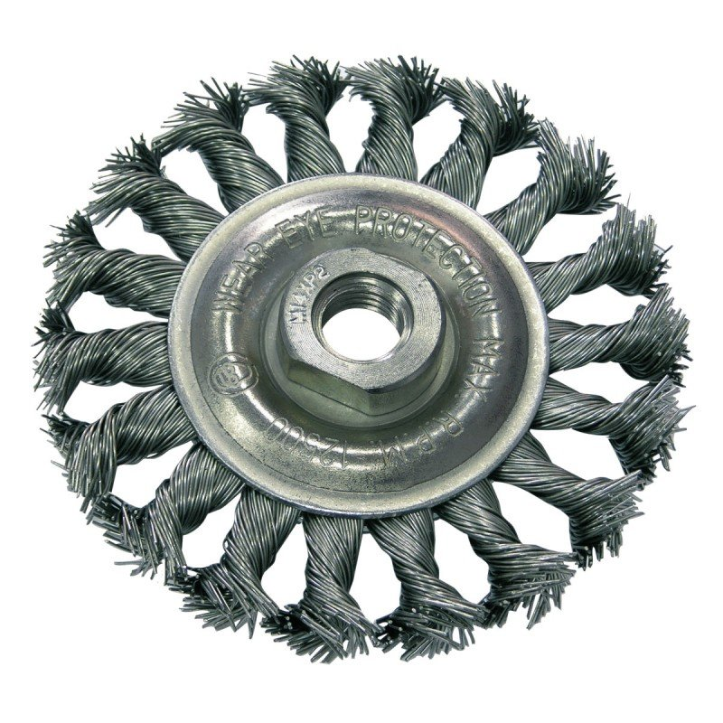 Szczotka druciana tarczowa śr. 125mm drut skręcany gwint 32532  PROLINE
