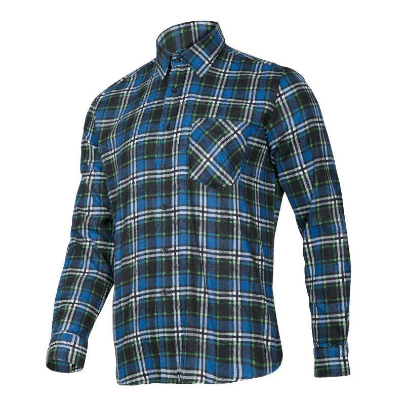 LAHTI PRO Koszula robocza flanelowa 2XL krata 120g niebieska