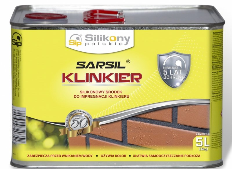 Sarsil Klinkier 5L 4kg impregnat silikonowy środek klinkieru do