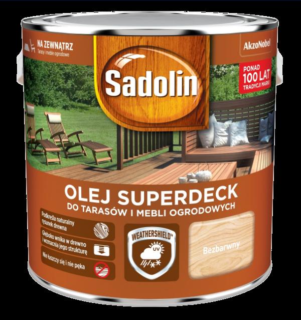 Sadolin Superdeck olej 5L BEZBARWNY 1 tarasów drewna do