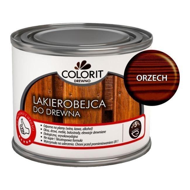 Colorit Lakierobejca Drewna 375ml ORZECH szybkoschnąca satynowa farba do