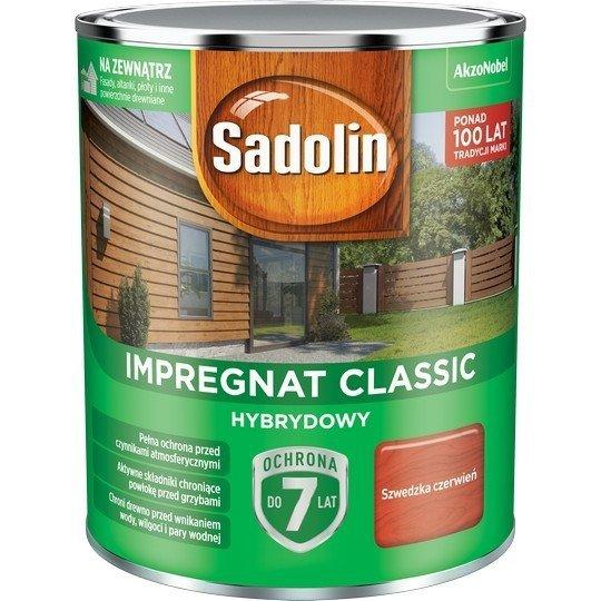 Sadolin Classic impregnat 0,75L SZWEDZKA CZERWIEŃ 98 drewna clasic