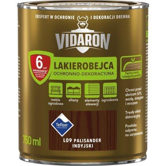 Vidaron Lakierobejca 0,75L L09 Palisander Indyjski do drewna
