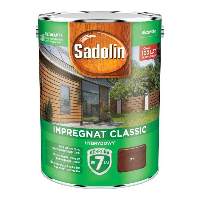 Sadolin Classic impregnat 4,5L TEK TIK TEAK 3 drewna clasic