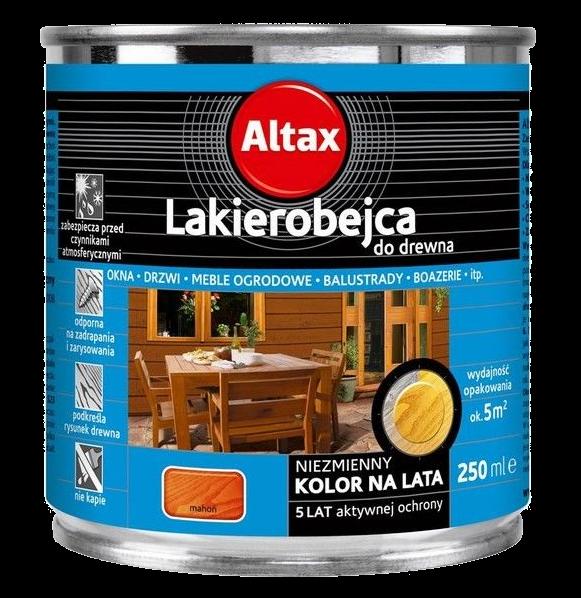 Altax Lakierobejca Drewna 0,25L MAHOŃ niebieska