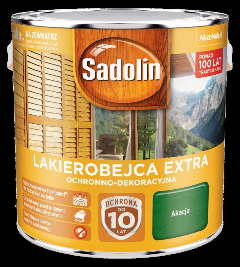 Sadolin Extra lakierobejca 2,5L AKACJA 52 drewna