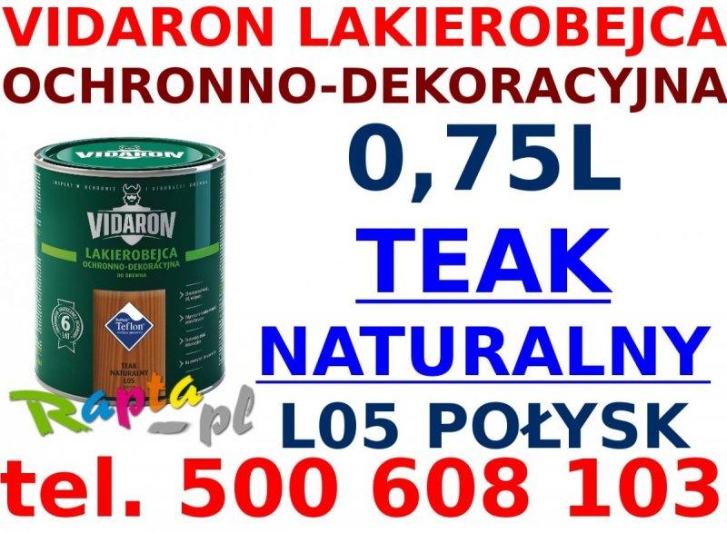 Vidaron Lakierobejca 0,75L L05 Teak Naturalny do drewna