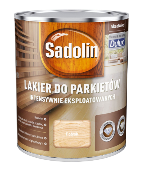 Sadolin Lakier Diamond POŁYSK 0,75L parkietu Dulux drewna