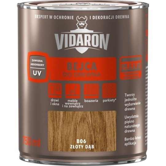 Vidaron Bejca 0,75L B06 ZŁOTY DĄB do drewna
