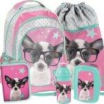 Plecak Szkolny z Pieskami dla Dziewczynki Duży Zestaw [PTD-181]