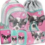 Plecak Szkolny Big Komplet Piesek dla Dziewczynki [PTD-181]