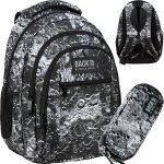 Modowy BackUP Plecak Młodzieżowy Szkolny Kratery Kosmos [PLB3O49]