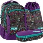 Plecak Młodzieżowy Szkolny Zestaw dla Dziewczyny Aztecki Wzór [18-2808CP]