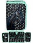 Piórnik Koń w Konie Szkolny dla Dziewczyny [PP19KN-001BW]