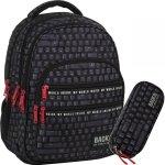 Czarny Plecak dla Chłopaka Młodzieżowy Szkolny Klawiatura [PLB3M45]
