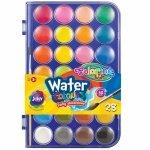 Farby Akwarelowe 28 Kolorów Wodne Colorino Pędzel Duże [67317PTR]