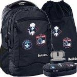 Ufo Czarny Młodzieżowy Kosmos Plecak Szkolny BeUniq Młodzieżowy [PPUF20-2808]