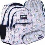 Komplet BackUP Szkolny Plecak Pegazy dla Dziewczynek Młodzieżowy [PLB4P25]