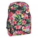 Plecak dla Dziewczyny Vintage Młodzieżowy Szkolny kolorowe Kwiaty