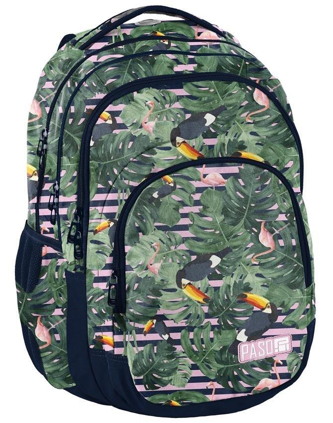 1282713a22a8a Plecak Młodzieżowy Zestaw Flamingi Tukany [PPMS19-2706] iPlecaki.pl