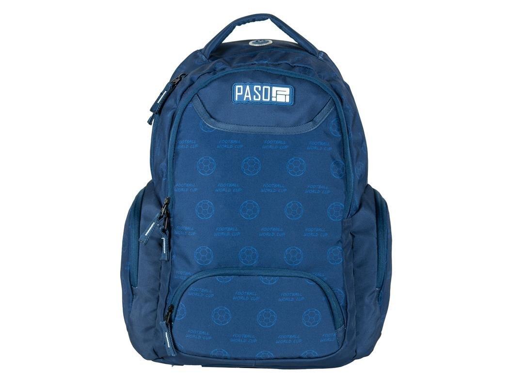 0b1ae6af7b827 Plecak Młodzieżowy Szkolny Niebieski Piłka Nożna